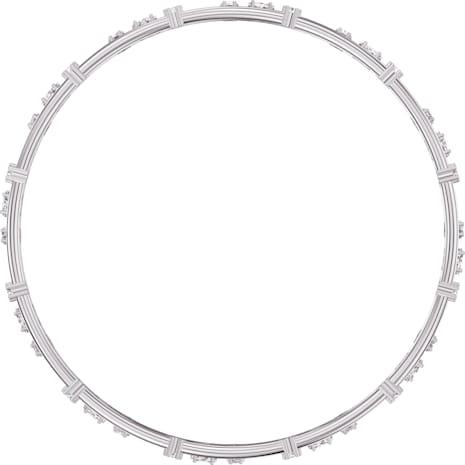 Bracelet-jonc Penélope Cruz Moonsun Cluster, blanc, Métal rhodié - Swarovski, 5508875