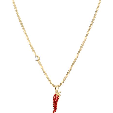 Lisabel Pepper Pendant, Red, Gold-tone plated - Swarovski, 5510531