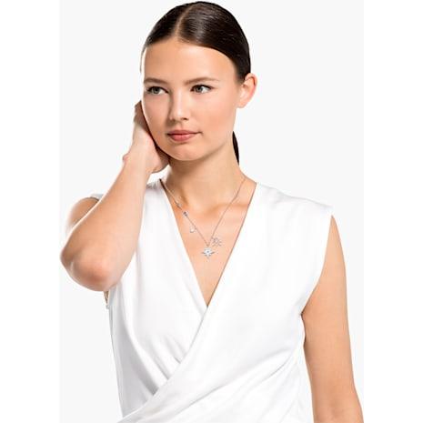 Swarovski Symbolic Star Pendant, White, Rhodium plated