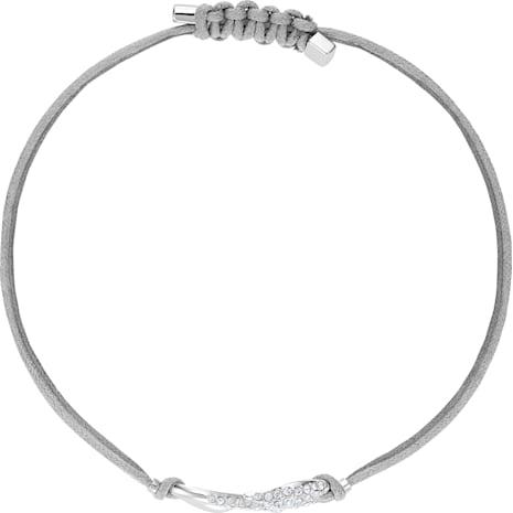 Swarovski Power Collection Hook Bracelet, Gray, Rhodium plated - Swarovski, 5511778
