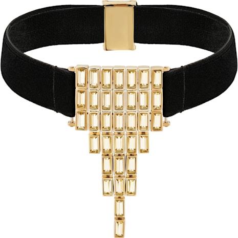 Fluid Velvet Halsband, braun, Vergoldet - Swarovski, 5511889