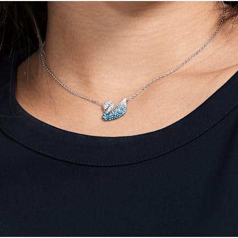 Pendente Swarovski Iconic Swan, multicolore, Placcatura rodio - Swarovski, 5512095