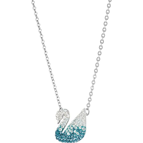 Swarovski Iconic Swan Pendant, Multi-colored, Rhodium plated - Swarovski, 5512095