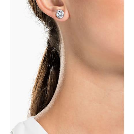 Boucles d'oreilles Angelic, blanc, Métal rhodié - Swarovski, 1081942