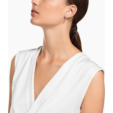 Sommerset Earrings, White, Rhodium plated - Swarovski, 1172374