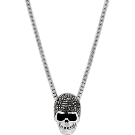 Taddeo Skull Pendant, Black, Mixed metal finish - Swarovski, 1180839