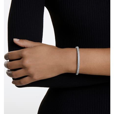 Bracelet-jonc Stone, blanc, Métal rhodié - Swarovski, 5032845