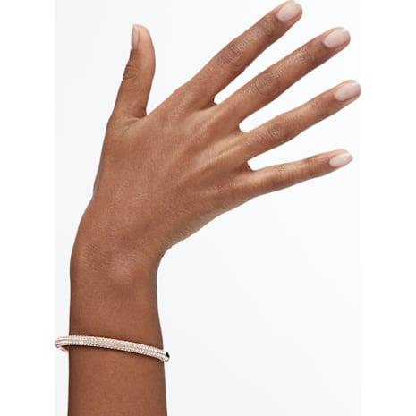 Stone 手鐲, 白色, 鍍玫瑰金色調 - Swarovski, 5032849