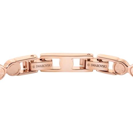 Tennis Armband, weiss, Rosé vergoldet - Swarovski, 5039938