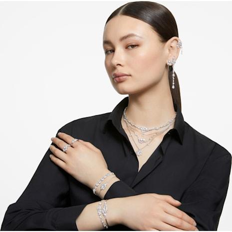 Angelic Bileklik, Beyaz, Rodyum kaplama - Swarovski, 5071173