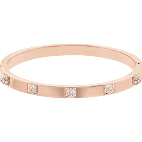 Tactic Bangle White Rose Gold Tone Plated