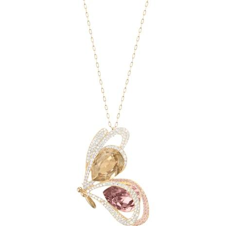 Chelly Pendant, Multi-coloured, Gold-tone plated - Swarovski, 5136436