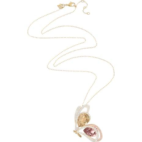 Chelly Pendant, Multi-colored, Gold-tone plated - Swarovski, 5136436