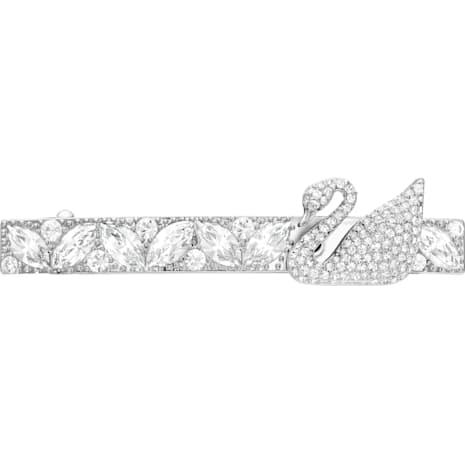 Iconic Swan Silver Hair Clip Stone - Swarovski, 5171353
