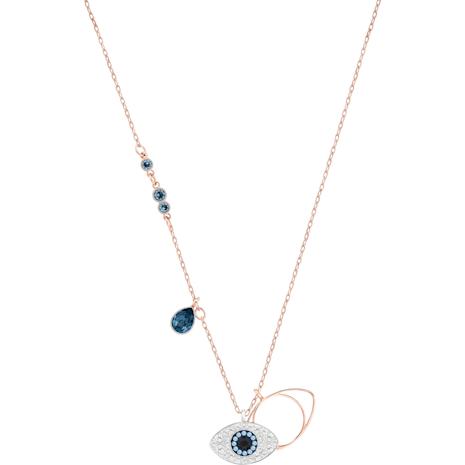 Pendentif Swarovski Symbolic Evil Eye, bleu, Finition mix de métal - Swarovski, 5172560
