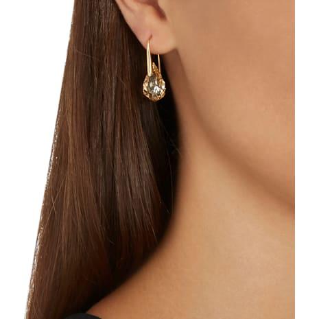 Energic Pierced Earrings, Golden, Gold-tone plated - Swarovski, 5195920