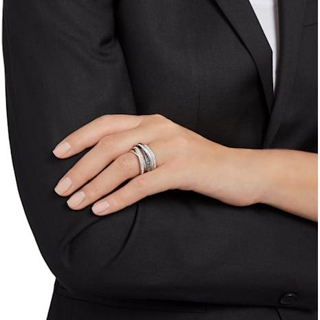 Dynamic Кольцо, Серый Кристалл, Родиевое покрытие - Swarovski, 5202250
