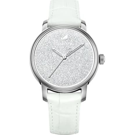 Crystalline Hours Watch, White - Swarovski, 5218899