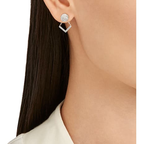 Blow Fine Line Pierced Earring Jackets - Swarovski, 5224222