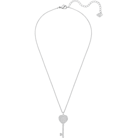 Engaged Set, Small, White, Rhodium plating - Swarovski, 5225368