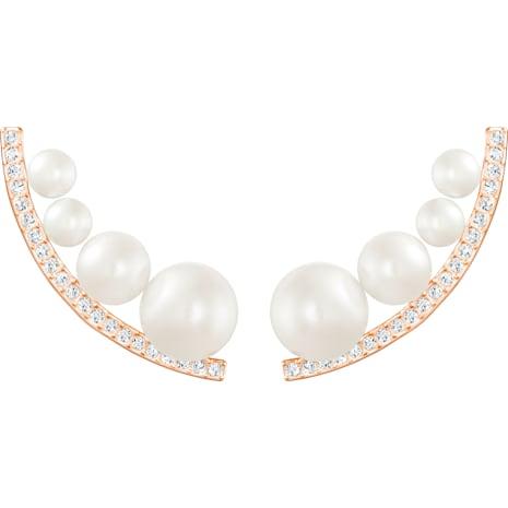 Fundamental Pierced Earrings - Swarovski, 5232106