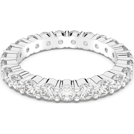 Vittore 戒指, 白色, 鍍白金色 - Swarovski, 5237742
