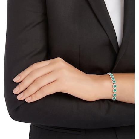 Angelic Bracelet, Green, Rhodium plated - Swarovski, 5237769