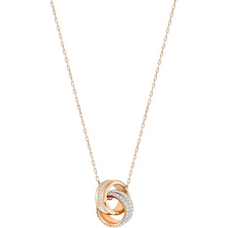 Further 鏈墜, 白色, 鍍玫瑰金色調 - Swarovski, 5240525