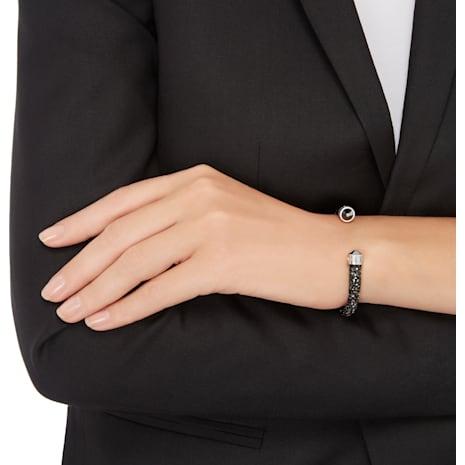 Crystaldust Cuff, Black, Stainless steel - Swarovski, 5250073