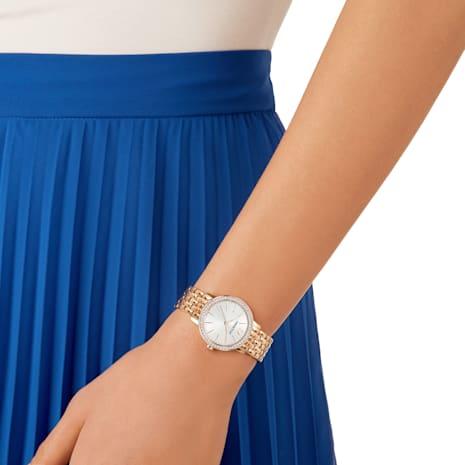 Orologio Graceful, Bracciale di metallo, PVD oro rosa - Swarovski, 5261490