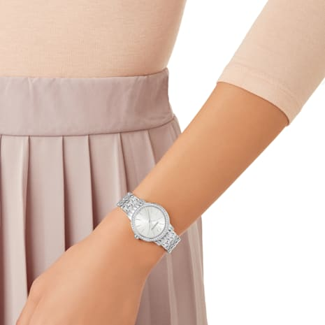 Graceful Watch, Metal bracelet, Stainless steel - Swarovski, 5261499