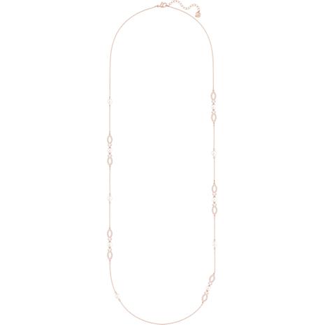 Generosity Strandage, White, Rose-gold tone plated - Swarovski, 5262424