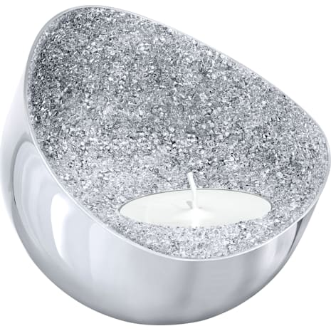 Minera Tea Light Holder, Silver Tone - Swarovski, 5265143