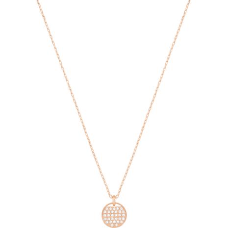 Ginger Pendant, White, Rose-gold tone plated - Swarovski, 5265913