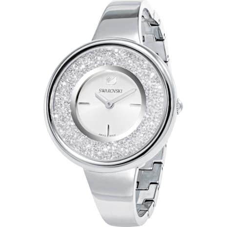 Crystalline Pure Uhr, Metallarmband, weiss, Edelstahl - Swarovski, 5269256