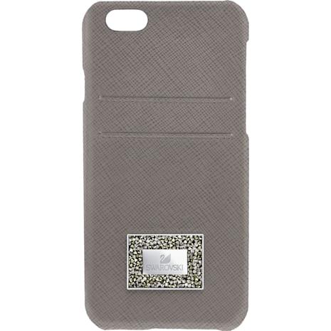 Coque rigide pour smartphone avec cadre amortisseur Versatile, iPhone® 6 Plus / 6s Plus, Gris - Swarovski, 5285099