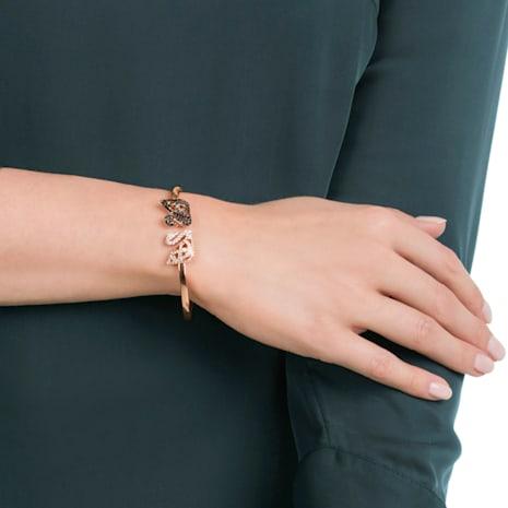 Facet Swan 手鐲, 多色設計, 多種金屬潤飾 - Swarovski, 5289535