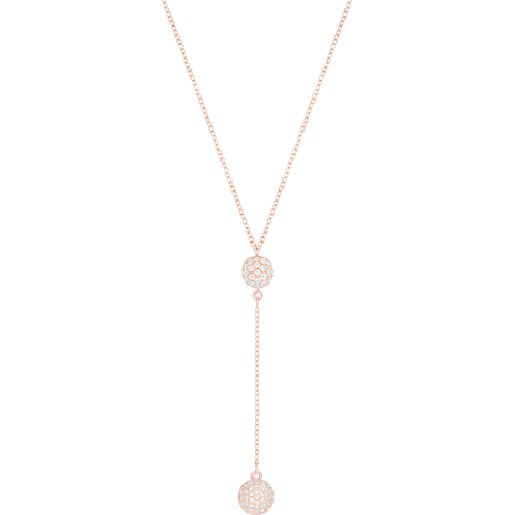 However Necklace, White, Rose-gold tone plated - Swarovski, 5290511