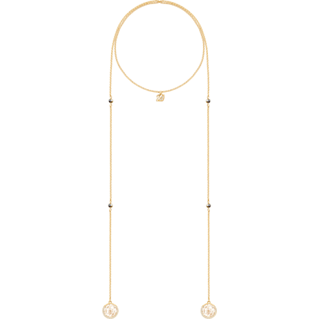 Except Necklace, Pink, Gold-tone plated - Swarovski, 5290594