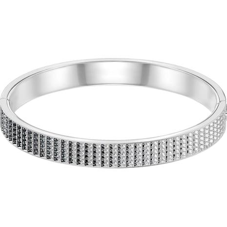 Bracelet-jonc Luxury, noir, métal rhodié - Swarovski, 5293112