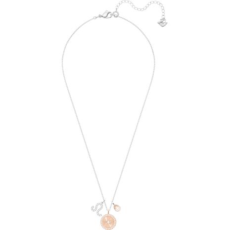 Zodiac Pendant, Leo, White, Rhodium plated - Swarovski, 5293512