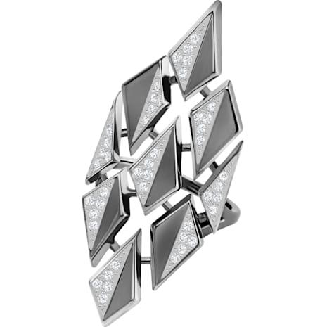 Ground Ring, White, Ruthenium plating - Swarovski, 5294994