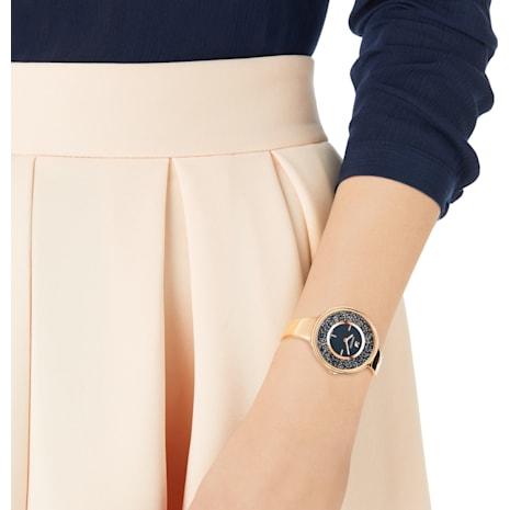 Crystalline Pure Watch, Metal bracelet, Black, Rose-gold tone PVD - Swarovski, 5295334