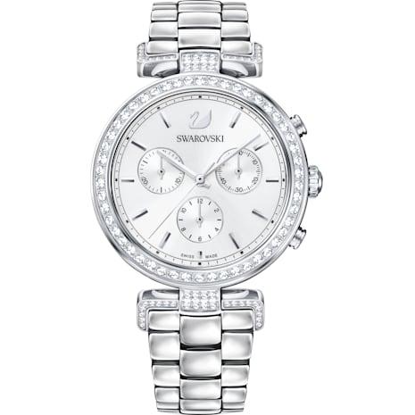Orologio Era Journey, Bracciale di metallo, bianco, acciaio inossidabile - Swarovski, 5295363