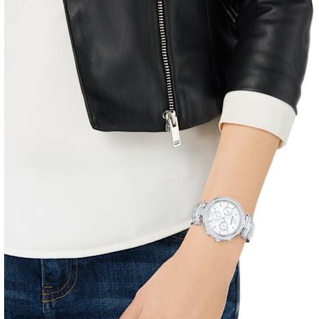 Montre Era Journey, Bracelet en métal, blanc, acier inoxydable - Swarovski, 5295363