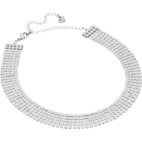 Fit Choker, White, Palladium plated - Swarovski, 5299886