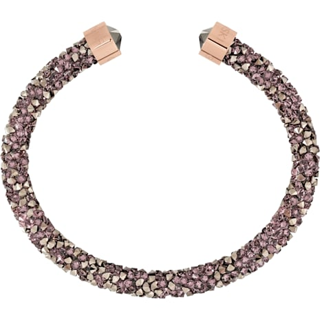 Crystaldust Cuff, Multi-coloured, Rose-gold tone plated - Swarovski, 5348098