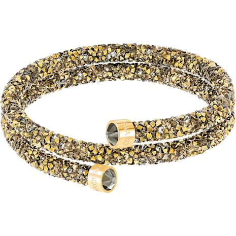 Crystaldust Double Bangle, Golden, Gold-tone plated - Swarovski, 5348103