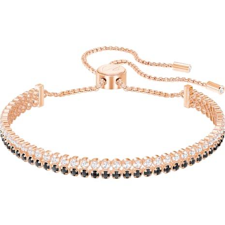 Subtle Браслет, Черный Кристалл, Покрытие оттенка розового золота - Swarovski, 5352092