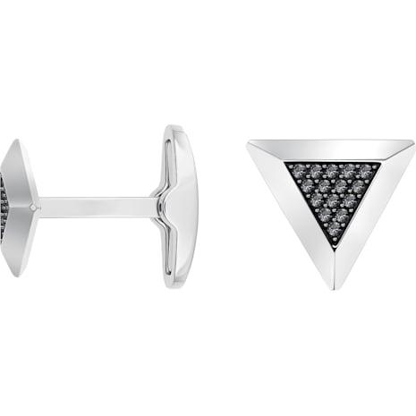 Gentleman Triangle Kol Düğmesi, Gri, Karışık kaplama - Swarovski, 5352222